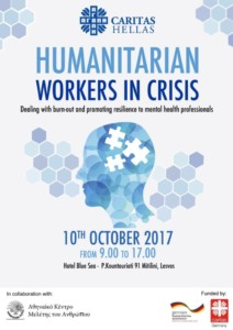 """Humanitarian Workers in Crisis: Dealing with burnout and promoting resilience to mental health professionals"""